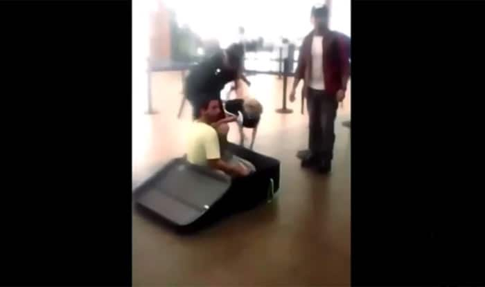 Man found in suitcase at airport