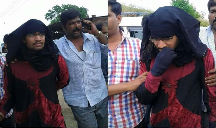 Burkha-clad RSS activist caught throwing beef at temple? Pictures go viral on Facebook!