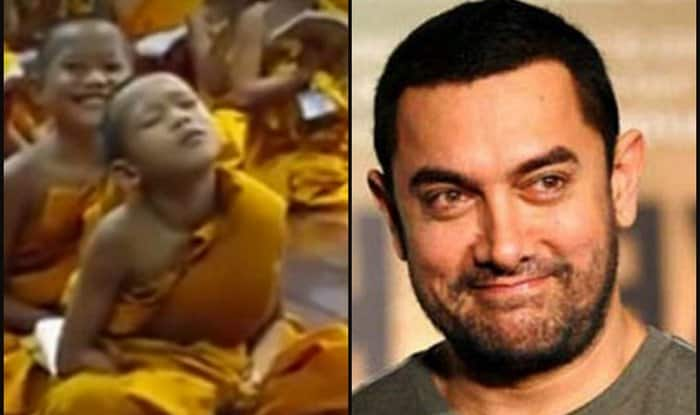 Aamir Khan loves viral video 'Monk kid falling asleep' – shares it on social media!