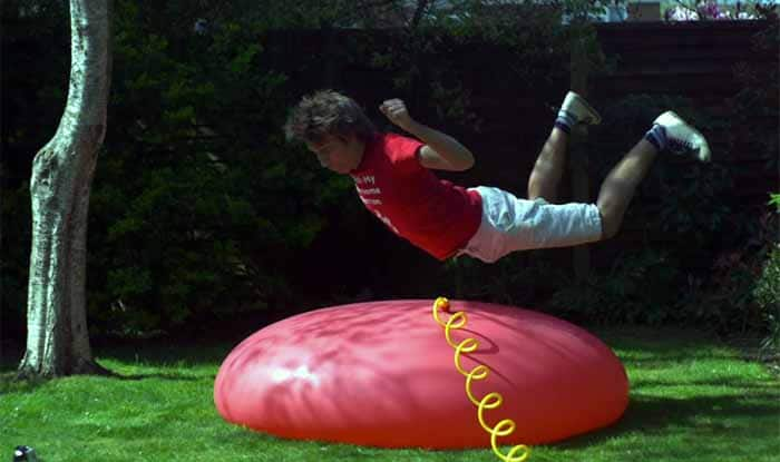 Watch giant 6 feet balloon blown up by The Slow Mo Guys