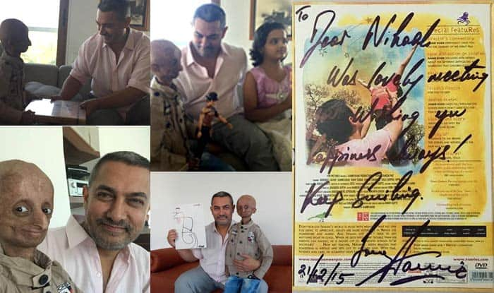 Aamir Khan made dream come true of 14-year-old Nihal Bitla suffering from progeria