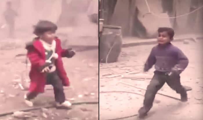 Syrian children calling for mother after an airstrike will break your heart (Video)