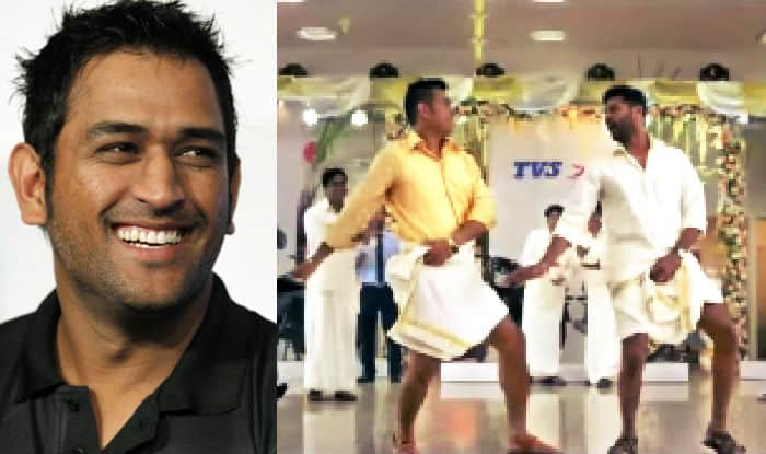 4c137e7a22 MS Dhoni copies Shah Rukh Khan in this 'Lungi Dance' ad with Prabhudeva!  Watch video