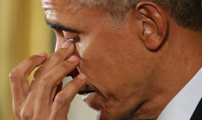 Barack Obama tears up as he requests for gun control in USA [Watch Video]
