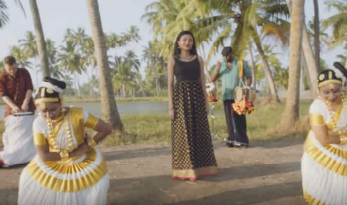 Vidya-Shankar Tucker join hands to add peppy twist to Malayalam traditional song 'Kuttanadan Punjayile'