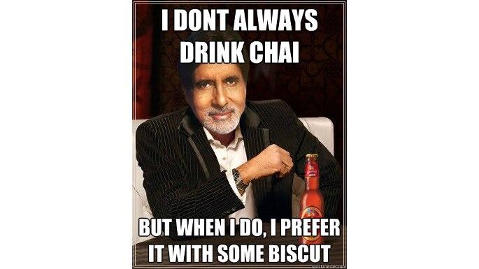 Amitabh Bachchan chai  meme