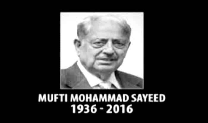 Opposition parties condole demise of Mufti Mohammad Sayeed
