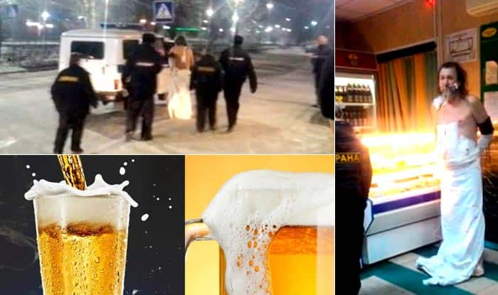 WTF! Man escapes hospital after surgery, wearing only bedsheet to buy beer!