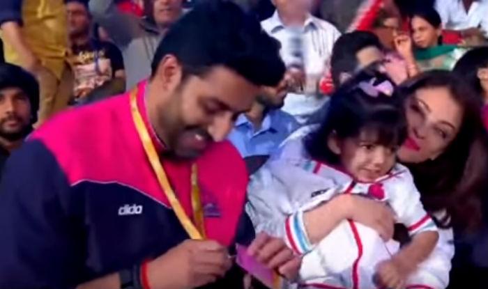 Aaradhya Bachchan cheers with mom Aishwarya for dad Abhishek's Pro Kabaddi League team! Watch video