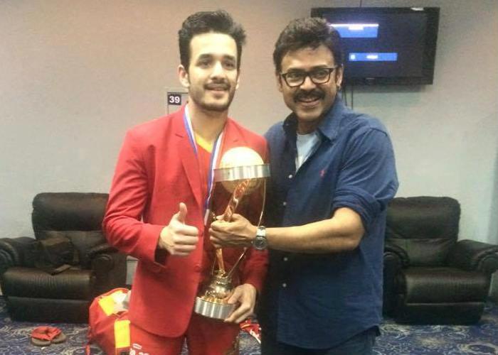 Venkatesh and Akhil Akkineni CCL 2016