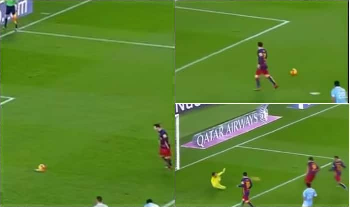 Lionel Messi pays tribute to Johan Cruyff with unselfish 'penalty pass' to Luis Suarez [Watch Video]