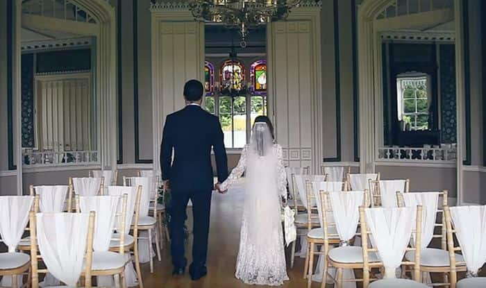 It looks like the perfect fairytale wedding… Till you realise who the bride is!