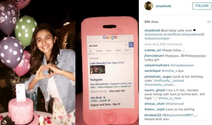 Cute! Alia Bhatt gets an iPhone-shaped birthday cake! (See picture)