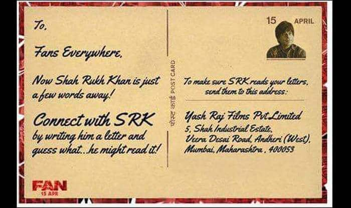 Shah Rukh Khan invites fans to write letter to him! Here's the postal address!