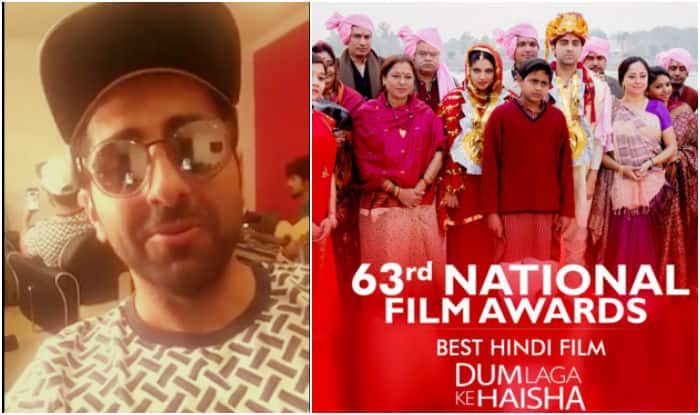 Ayushmann Khurrana shares his rendition of Moh Moh Ke Dhage, after Dum Laga Ke Haisha wins Best Film 2016 at 63rd National Film Awards