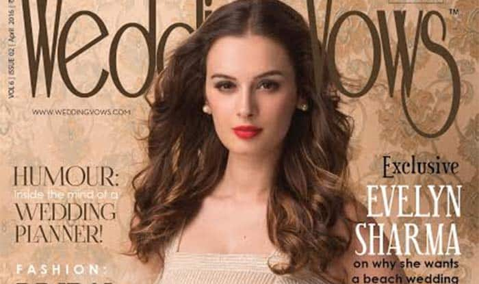 Evelyn Sharma is striking on Wedding Vows' April cover!