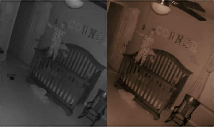 Possessed baby caught on camera! Possessed baby balancing on crib goes viral (Watch video)