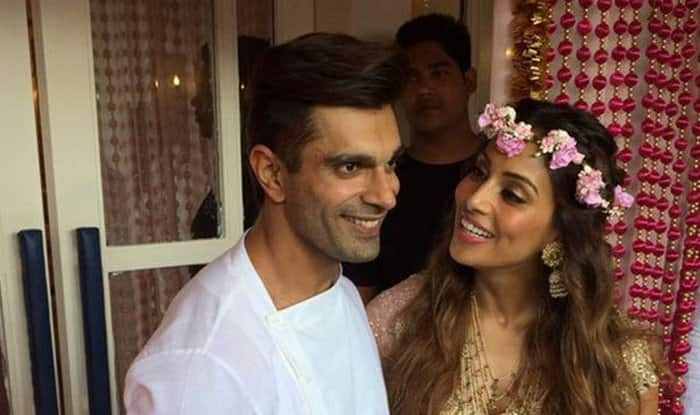 Karan Singh Grover and Bipasha Basu at Mehendi