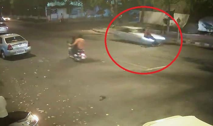 Shocking! Speeding Mercedes kills businessman in Delhi (Watch video)