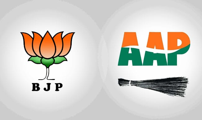Image result for aap bjp