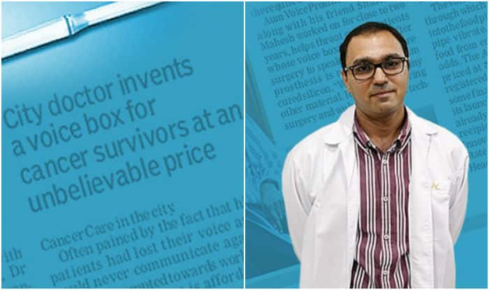 Meet Dr. Rao who invented device to give cancer patients their voice again at an unbelievable price!