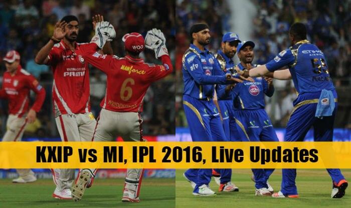 MI beat KXIP by 25 runs | LIVE Score Kings XI Punjab (KXIP) vs Mumbai Indians (MI) IPL 2016 Match 21: KXIP 164/7 in 20 Overs (Target 190)