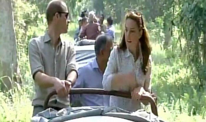 Watch: Prince William and Kate Middleton spot rhino on their Kaziranga National Park ride!