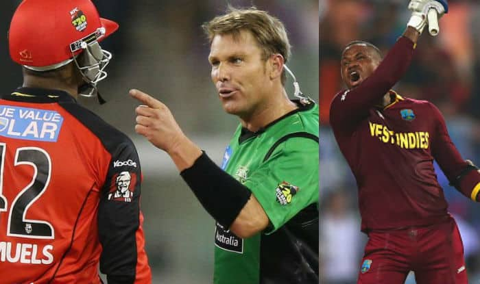This is how it all started between Marlon Samuels and Shane Warne