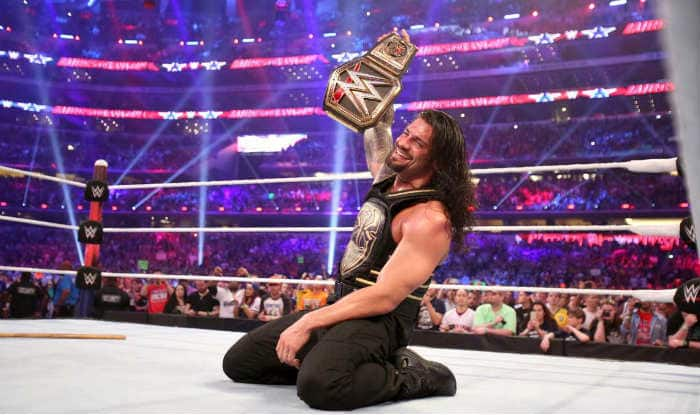 After his win at WrestleMania 32, Roman Reigns gets customized WWE World Heavyweight Championship title belt