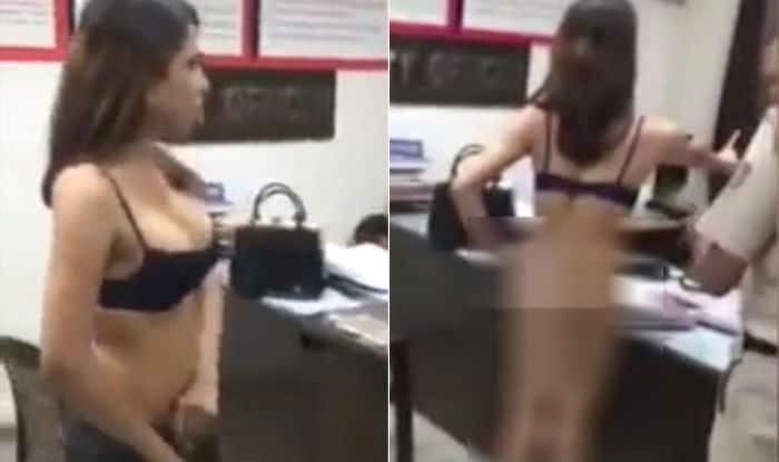 Shocking! Angry girl strips naked at Ahmedabad police station, abuses cops; video goes viral