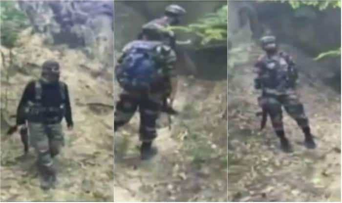 Hizbul Mujahideen terrorists dressed in army fatigues spotted in Kashmir (Watch Video)