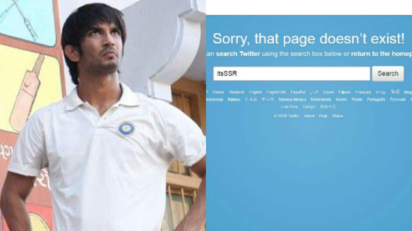 Has Sushant Singh Rajput deleted his Twitter account?