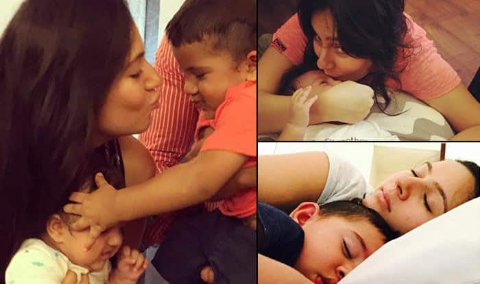 Cuteness overloaded: Yummy mummy Kanchi Kaul's extremely adorable picture with her darling sons!