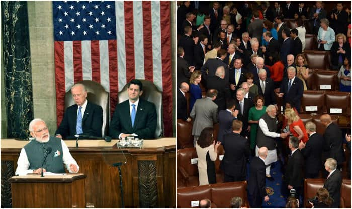 Narendra Modi speech in US Congress: When an Indian Prime Minister receives 8 standing ovations (Watch video)