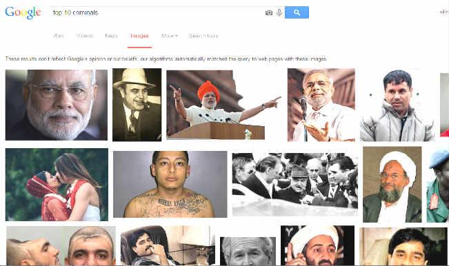 Narendra Modi in 'top 10 criminals' list: Google gets court notice