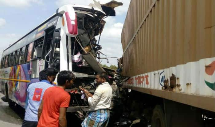 Tamil Nadu: 10 dead, 33 injured after bus collides with container lorry in Krishnagiri district