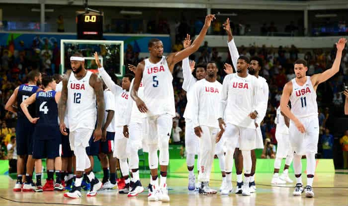 Rio Olympics 2016: US struggle with close win over France in men's basketball