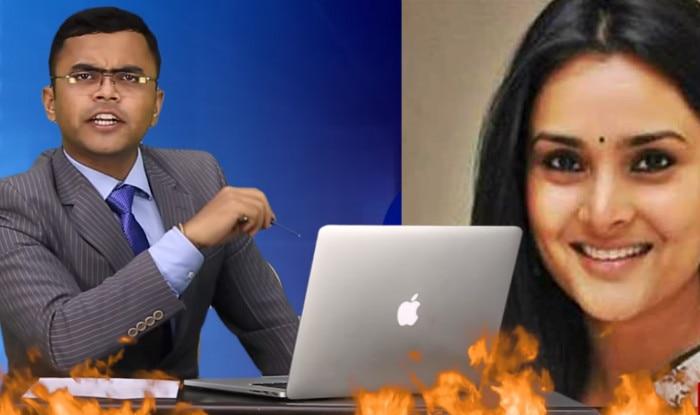 'Ornub' goes down on the lawyer who filed sedition case against Ramaya in Arnab Goswami Newshour style!