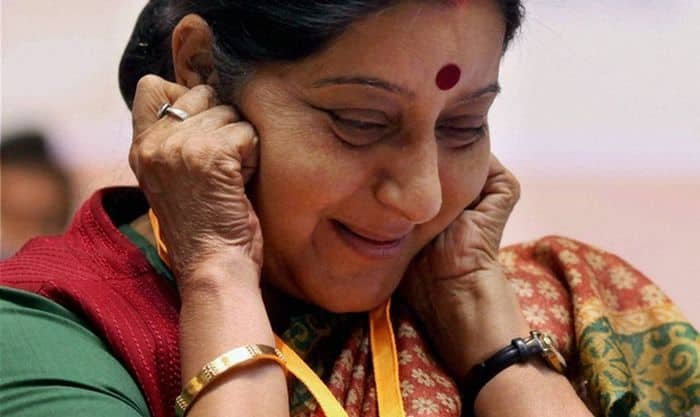 Minister of External Affairs Sushma Swaraj admits she had no hold over affairs of the heart!