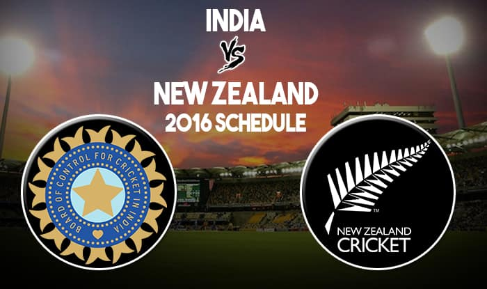 India vs New Zealand 2016 Schedule: Fixture, Time, TV Coverage, Dates & Venues of Ind vs NZ Test Series