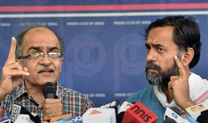 Prashant Bhushan-Yogendra Yadav new party to be called 'Swaraj India', all set to challenge AAP