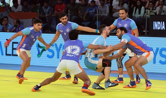 Kabaddi LIVE Score India Vs England, Kabaddi World Cup 2016: India thrash England in their final league match, enter semis