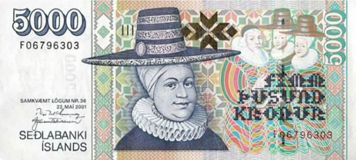 Iceland currency note