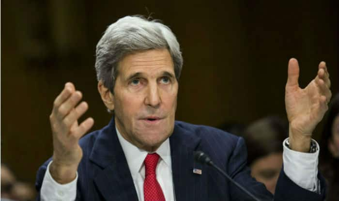 John Kerry appeals for diplomacy as he leaves State Department