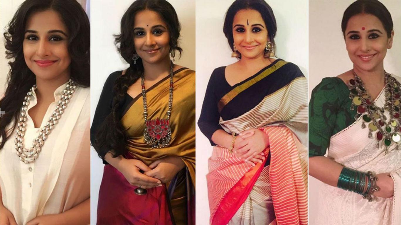 Kahaani2's Vidya Balan's elegant style sense will give you major #TraditionalOutfitGoals!
