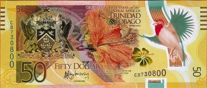 trinidad and tobago 50 dollar note