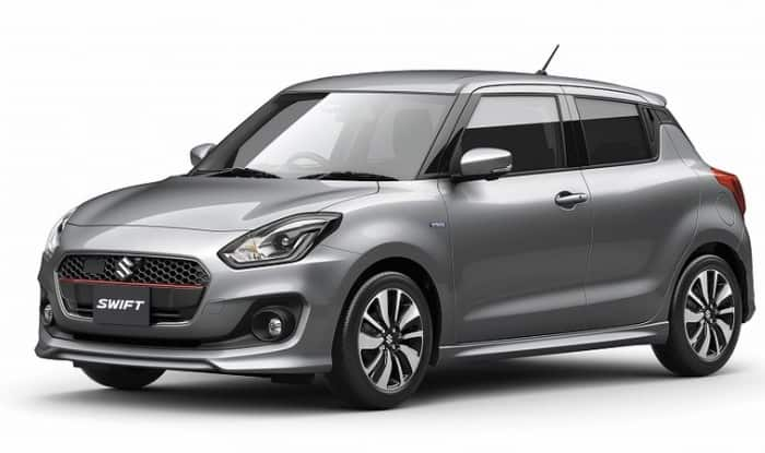 2017 Suzuki Swift grey front three quarters