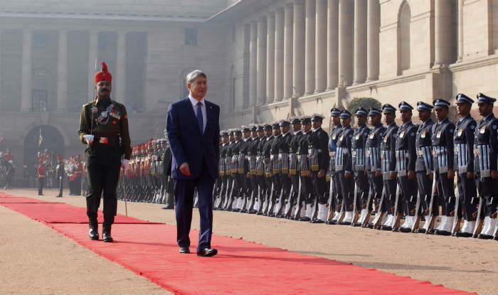 Kyrgyzstan President Almazbek Atambayev receives ceremonial reception at Rashtrapati Bhawan