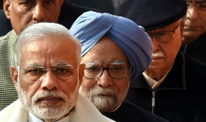 This picture of PM Narendra Modi, Manmohan Singh and LK Advani garnered the best captions