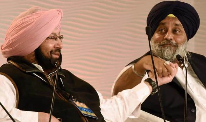 Capt Amarinder Singh and Sukhbir Singh Badal